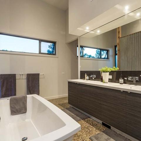 Custom bathroom storage cabinets