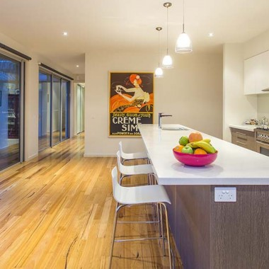 Custom kitchen and outdoor dining