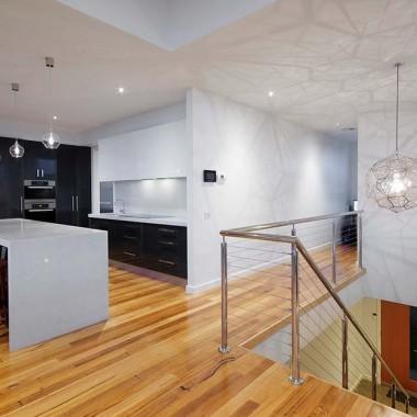 Loungeroom looking into custom kitchen area