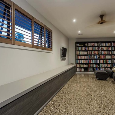Study-Library Inverleigh with custom cabinets